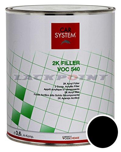 CAR SYSTEM 2K Füller VOC 540 schwarz 3,6 Liter 144.353