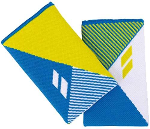 Babolat Logo Jumbo Unisex Wristband White Blue Yellow