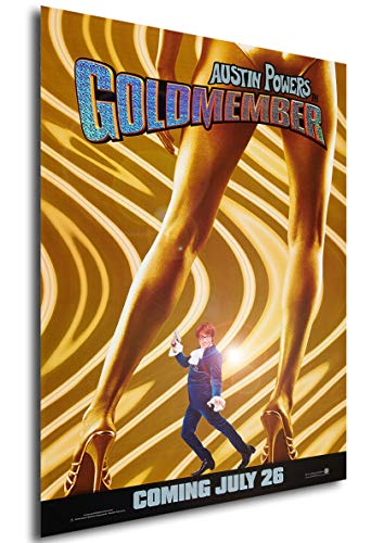 Instabuy Poster Austin Powers in Goldständer - Theaterplakat - A3 (42x30 cm)