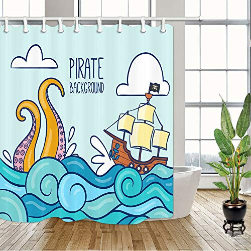 cortinas de baño dibujos