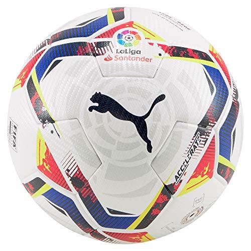 PUMA LaLiga 1 Accelerate (FIFA Quality Pro) WP Balón de Fútbol, Unisex-Adult, Puma White-Multi Colour, 5