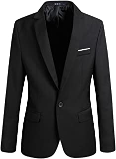 Bestgift Mens Fashion Long Sleeve Slim Fit One Button Blazer Muti-Color Casual Jacket