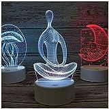 HIMA Ilusión 3D luz de Noche, Escritorio del LED Tabla Lámpara del Arte Sculpture Enciende el Regalo de cumpleaños para niños Decoración del Dormitorio