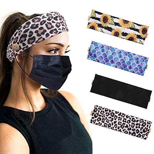 Button Headband Holder for Nurses Mask, Women/Men/Yoga/Sports, Protect you Ears with Button Headband, Suit for Everyone Wearing