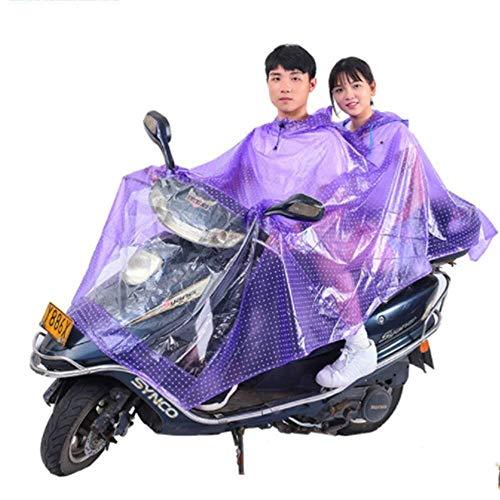 ZXL Regenjas Motorfiets Elektrische fiets Regenjas, Volwassen Waterdichte Dubbele Hoed Brim Poncho Mannelijke en Vrouwelijke Enkele Helm Masker Regenjas Regen Cover Veilig Rijden Outdoor Camping Regenkleding (Kleur : A3)