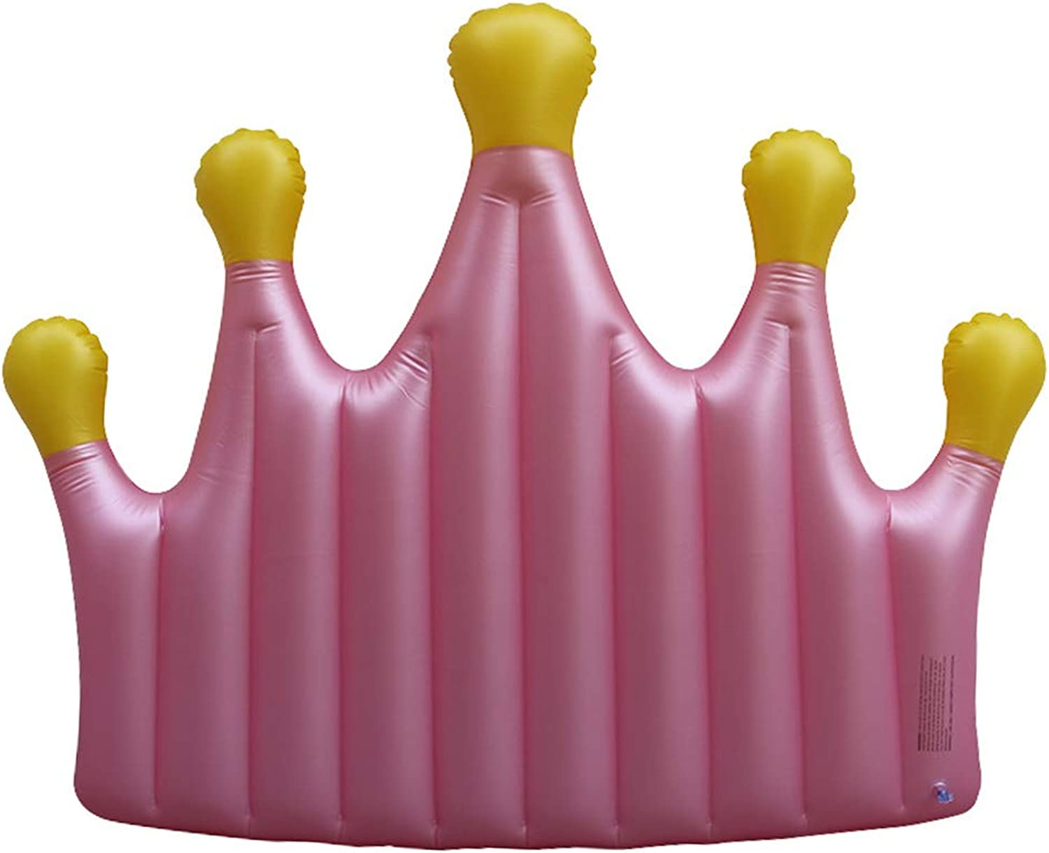 Inflatable Pool Float Swim Floating Ring Pink crown floating bed Thicken for Adults Kids Loungers Chair Toy Air Bed Beach Mat Water Hammock
