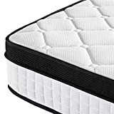 Yaheetech 3ft Single <span class='highlight'>Mattress</span> 10.6 Inch <span class='highlight'>Pocket</span> <span class='highlight'>Sprung</span> <span class='highlight'>Mattress</span> <span class='highlight'>with</span> <span class='highlight'>Memory</span> <span class='highlight'>Foam</span> and Quilted Knitted Fabric and Airy Mesh for Bedroom/Spare Room