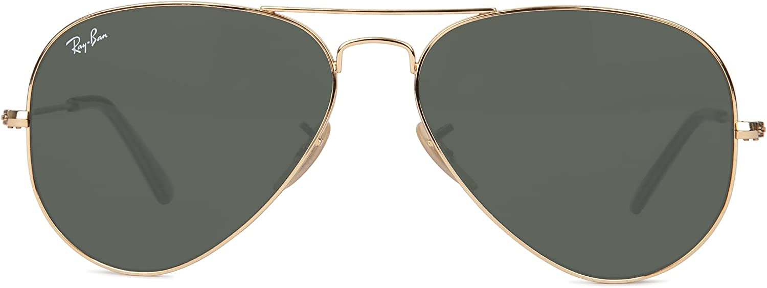 Ray-Ban RB3025 Metal Aviator Sunglasses + Vision Group Accessories Bundle