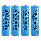 18650 Batería Recargable Litio 18650 3.7V Batería Pilas Recargables Alta Capacidad 9900mAh Baterías Recargables para Linterna, Iluminación de Emergencia, Dispositivos Electrónicos(4 Piezas)