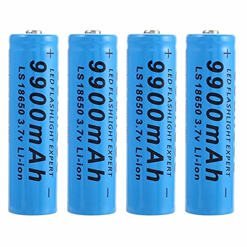 18650 Batteria Ricaricabile agli Ioni di Litio, 3.7V 9900mAh Batteria Ricaricabile Bottone di Grande Capacità Pile Ricaricabili per Torcia a LED, Illuminazione di Emergenza, Dispositivi Elettronici
