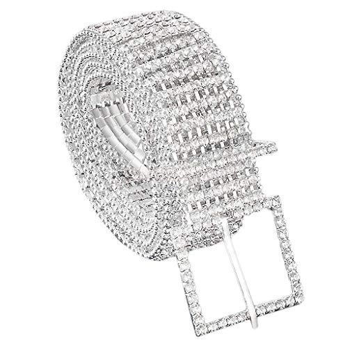 Silber Damen Gürtel 8 ROW 45mm breit Strass Strass Diamanten Mode Kleidung von Wedding Decor (M)