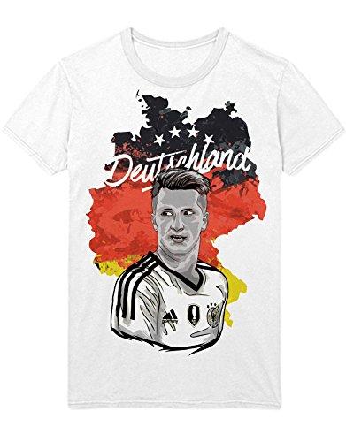T-Shirt Deutschland Marco Reus M161607 Weiß XXXL