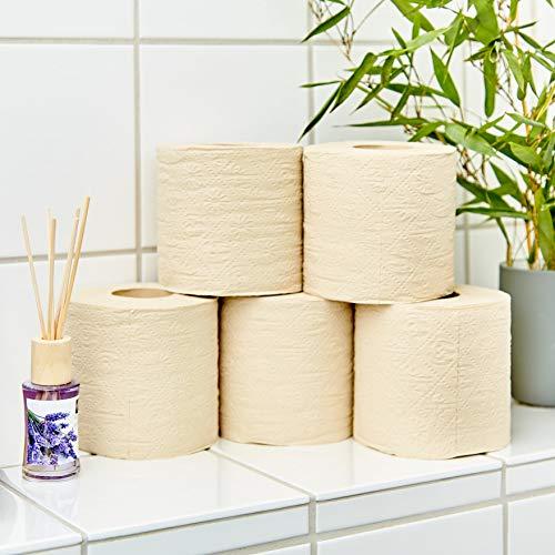 bambuswald© nachhaltiges Toilettenpapier aus 100% Bambus | 8x Rollen á 200 Blatt - 3 lagig sanft trocken & angenehm weich | holzfreies Klopapier in plastikfreier Verpackung | WC-Papier Toilet Paper - 6