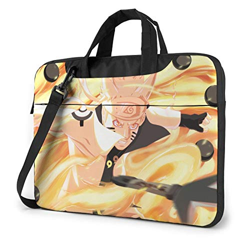 Naruto Uzumaki Compatible with 15.6 Inch Water-Repellent Shockproof Laptop Crossbody Messenger Bag Briefcase with Adjustable Strap,Computer Carrying Case for Ipad Notebook