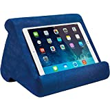Tablet Pillow Stand - Tablet Holder Dock for Bed with 3 Viewing Angles, Compatible with iPad Pro 9.7, 10.5,12.9 Air Mini 4 3, Kindle, Galaxy Tab, E-Reader (Blue)
