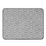 SUBEKYU 24' x 18' Dish Drying Mat, Dish Mat Drying Kitchen Mat Large, Absorbent Microfiber Dish Drainer/Rack Pads, XL, Grey, 1PACK