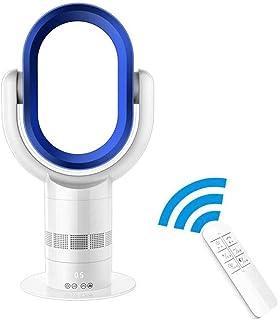 XMYL Ventilador Silencioso Sin Cuchilla con Control Remoto, Oscilante Ventilador Sin Aspas con Temporizador De 9 Horas, 10 Ajustes De Velocidad/Viento, Temporizador De Sueño para Oficina Casa,B