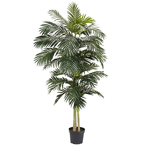 Nearly Natural 5326 8ft. Golden Cane Palm Silk Tree,Green