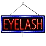'Eyelash' LED Window Business Sign - Extra Bright LEDs, Can be seen Through Tinted Windows, Extra Large 32in Wide (#2725)