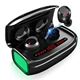 Wireless Earbuds, Bluetooth 5.0 Headphones TWS Stereo Headphones with 3000mAh Charging Case [As
