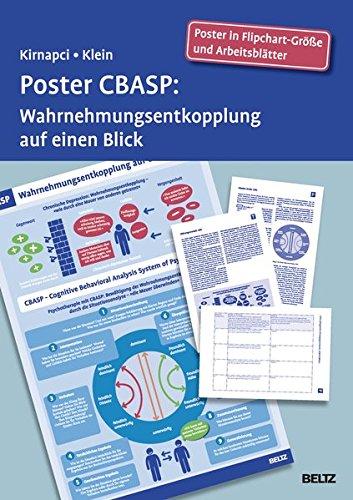 Poster CBASP: Wahrnehmungsentkopplung auf einen Blick. Poster in Flipchart-Größe und Arbeitsblätter in der Sammelmappe. Format Poster: 68 x 99 cm