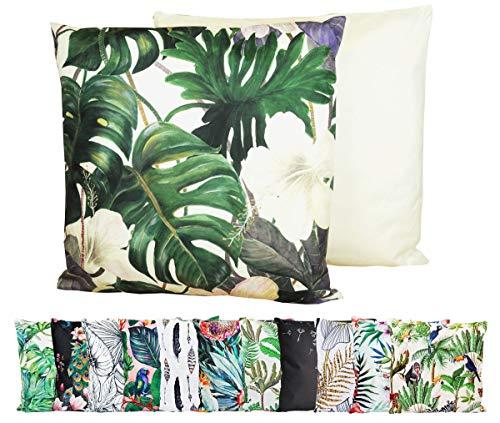 JACK XXL Outdoor Lounge Kissen 60x60cm Motiv Dekokissen Wasserfest Sitzkissen Garten Stuhl, Farbe:Monstera