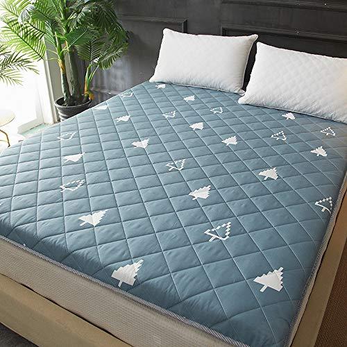 GFYL Zusammenklappbare Futon Tatami-Bodenmatte, gesteppter, weicher, tragbarer Matratzenaufsatz, rutschfeste, antibakterielle Bodenmattenmatte für Studentenwohnheime,B,150 * 200cm(59 * 78inch)