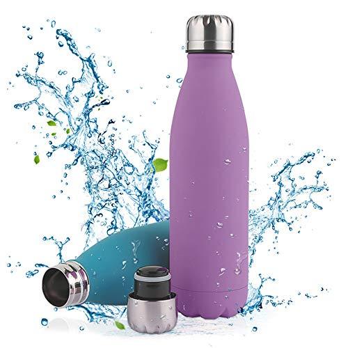 Botella de Agua Acero Inoxidable-350/500/750ml,Aislada al Vacío de Conserva Frío Doble Pared,sin BPA Botella Agua Deporte,Resistencia al Rayado, fácil de Limpiar,Reutilizable para Colegio, Spo