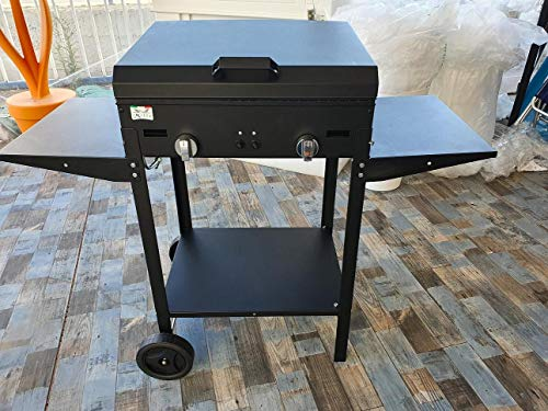 Artigian Ferro Barbecue a Gas 5,5kw 2 fuochi Made in Italy MOD Zeus by Milee con Pietra LAVICA - BBQ Artigianale