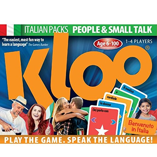 Amazon Com Kloo Learn To Speak Italian Games People Small Talk Pack 1 Double Deck Toys Games
