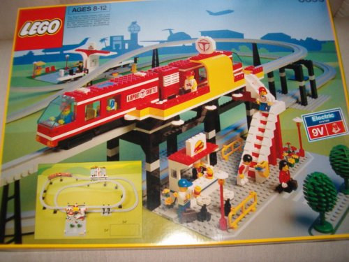 Vintage Lego Airport Shuttle Monorail #6399 From 1990