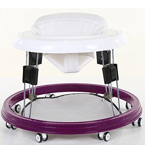 Baby Walker mit Rädern Multi-Funktions-Kind Anti-Rollover One-Touch-Folding Baby Walker für Mädchen Jungen (schwarz)