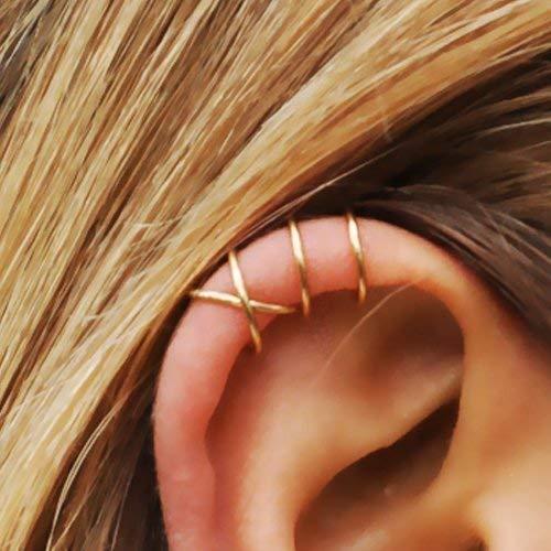 Dainty Ear Cuff Delicate Ear Cuff Silver EarCuff No Piercing Ear cuff Fake Cartilage Earring Double Lines Ear Cuff