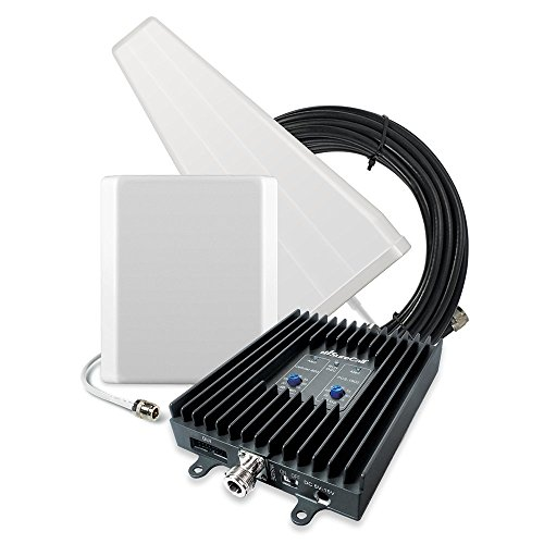 SureCall Flexpro Yagi/Panel, Dual Band Cell Phone Signal Booster Kit for All Carriers up to 6,000 Sq Ft