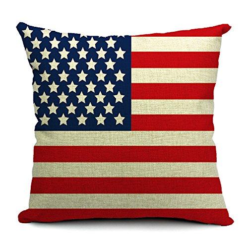 Poens Dream Bandera Pa's Funda de coj'n Lino, Tama–o 45cm x 45cm,USA