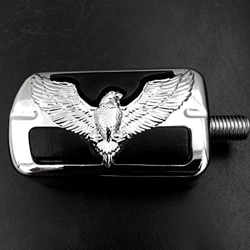 Eagle Hawk Badge Willie G. Skull pour Harley Electra Wide Super Low Glide Softail XLX Chromé