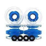 POFET 4pcs 70x51mm anello magnetico attrito leggero trasparente skateboard ruote sport all'aperto skateboard skateboard ruote cuscinetto skateboard Cruiser longboard asse blu