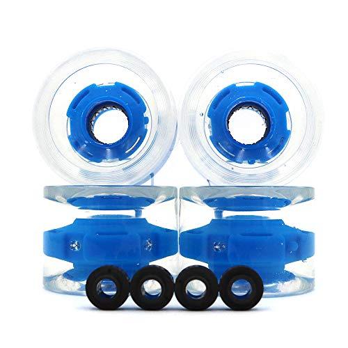 POFET 4pcs 70x51mm anello magnetico attrito leggero trasparente skateboard ruote sport all aperto skateboard skateboard ruote cuscinetto skateboard Cruiser longboard asse blu