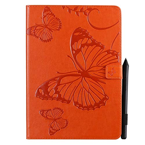 GROSSARTIG For IPad 10.2 2019 (7th Generation) Business Horizontal Flip Waterproof Embossing Butterfly Pattern Premium Leather Protective Case Leather Hard Back Protective Stand Cover