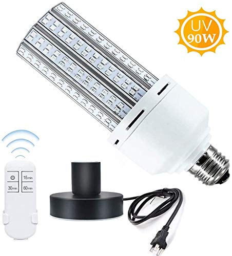 UV Germicidal Lamp, 90W UV Sanitizer Bulb with Base...