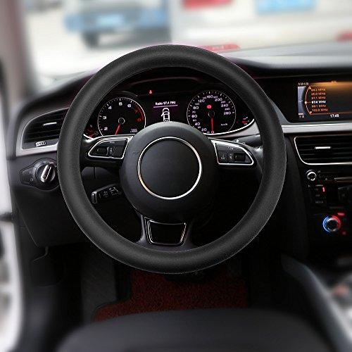 OurLeeme Fundas para volante de coche, cubierta del volante del coche del silicón antideslizante NINGUNA puntada de la necesidad para la mayoría de los coches 36-40cm
