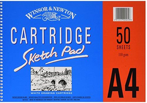 Winsor & Newton 6671233 spiralgebundener Skizzenblock, 50 Blatt - weiß, 110 g/m², DIN A4