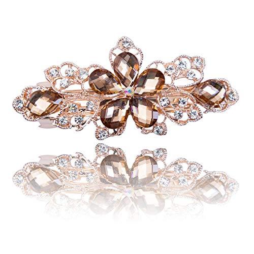 Strass Blume Krone Haarspange Kopfbedeckung Braut Hochzeit Haarschmuck Kristall Haarnadeln für Frauen Kopfschmuck