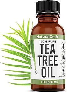 Tea Tree Oil - 100% Pure Essential Oil for Acne, Skin, Hair, Shampoo, Oils, Piercings, Face, Fungus - Natural Undiluted