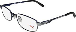 15409 Mens/Womens Sports Activity Tight Fit Full-rim Flexible Hinges Eyeglasses/Glasses (49-17-130, Gray / Blue)