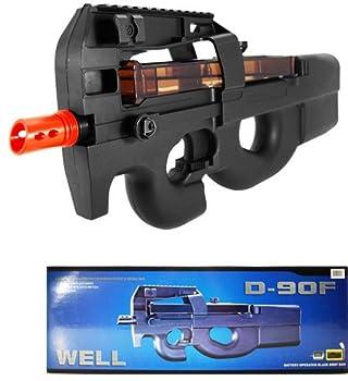 well d90f aeg auto electric sub machine gun airsoft p90 assault rifle Airsoft Gun