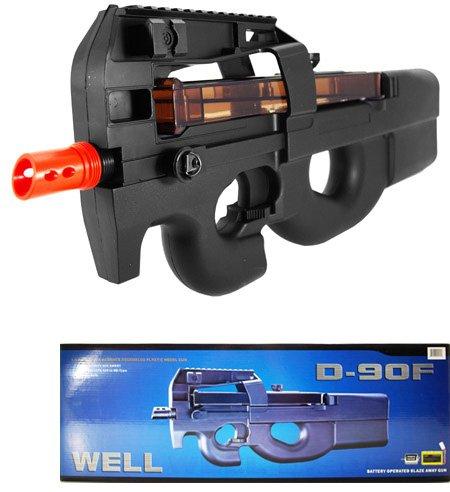 well d90f aeg auto electric sub machine gun airsoft p90 assault rifle(Airsoft Gun)