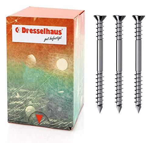 Terrassenschrauben JD-Plus Senkkopf mit I-Stern (T25) und optimierter Spitze Edlestahl A2, ø x Länge, mm (5 x 50 mm, 200 Stück, volle VE)