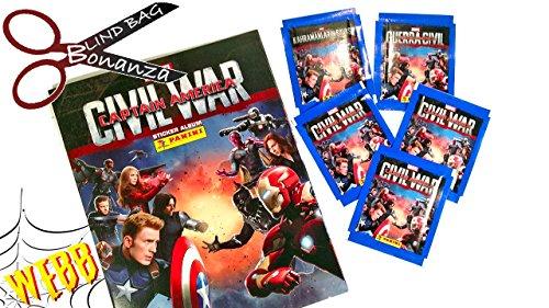 Funko Panini Marvel Captain America Guerre Civile Starter Pack – Album & 31 Stickers