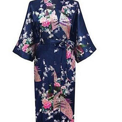 Gar-den Stile Elegante Nozze Parti in Seta Kimono Accappatoio Donne Raso Abito di Seta Robes Molto Bello Crescere for Damigella d'Onore Regalo Estate Confortevole (Color : 1, Size : S)